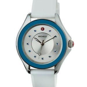 🆕Michele Cape Topaz Watch w/Silicone Strap